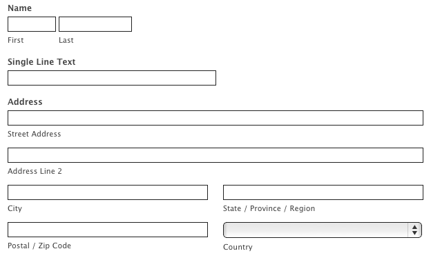 Customize Your Form With CSS Examples – Change of Address Form Template