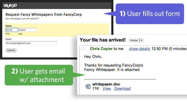 How to send a confirmation email with a file attachment using send whitepaper spiritdancerdesigns Images